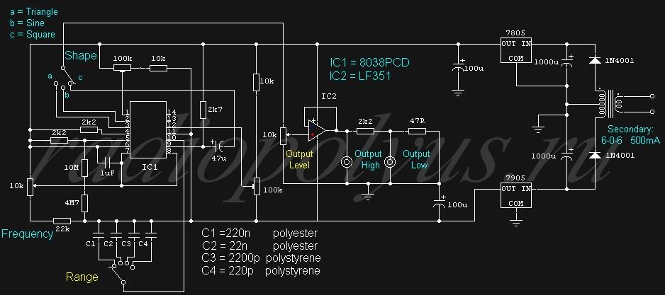 функциональный генератор на к561ла7 приготовления вкусного