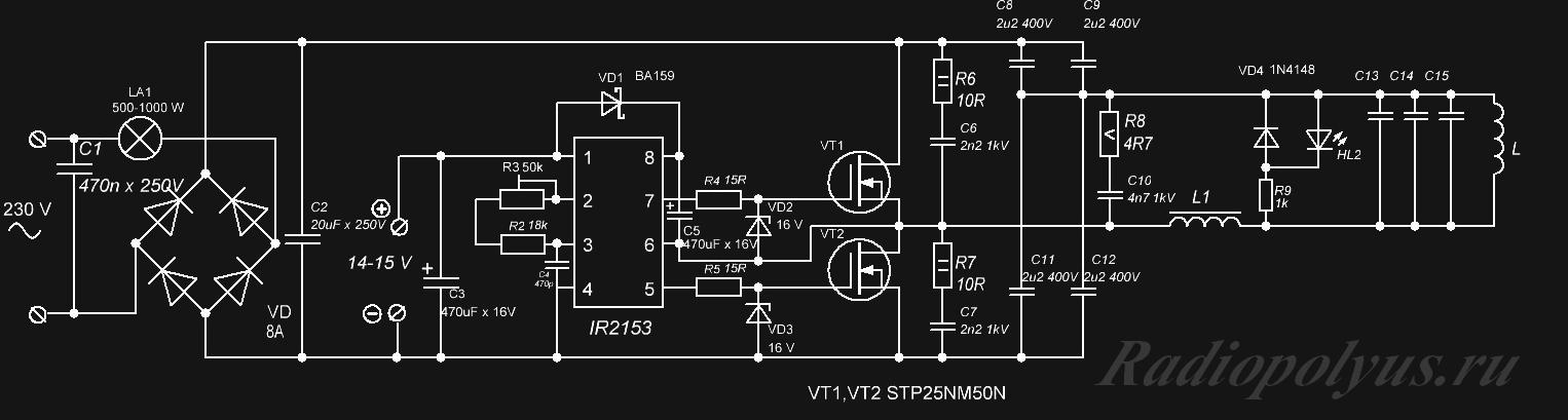 Vip-cxema. org - Простейший индукционный нагреватель 477