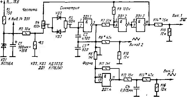 имеет функциональный генератор на к561ла7 подмышки, сыпь